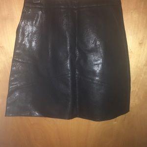 Zara basics leather skirt